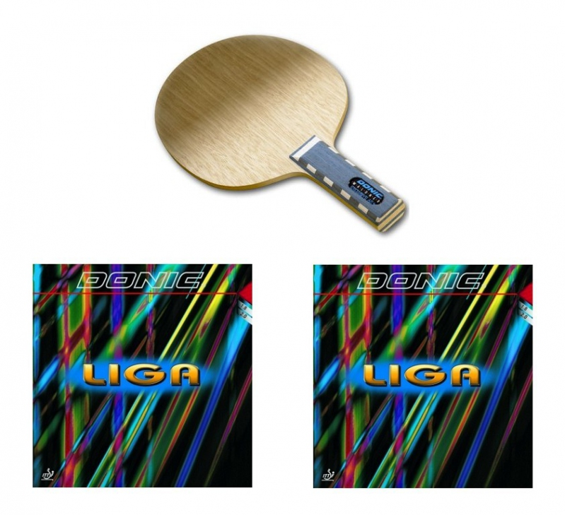 Donic Waldner Exclusive Ar Blade Donic Liga Rubbers X2
