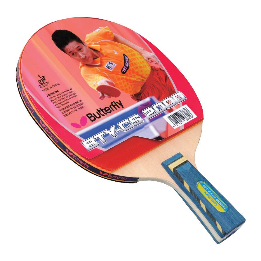 Butterfly Bty Cs 2000 Table Tennis Paddle Chinese Penhold
