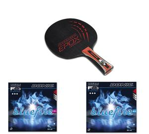 Donic Epox Offensiv Table Tennis Blade + Donic Blue Fire M1 & M2 Rubbers